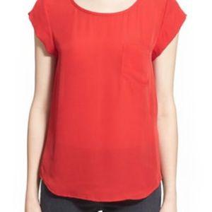 Joie 'rancher' top 100% silk pocket blouse